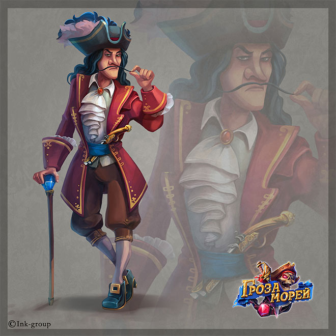 Characters for Pirates Game by Anna Turkova