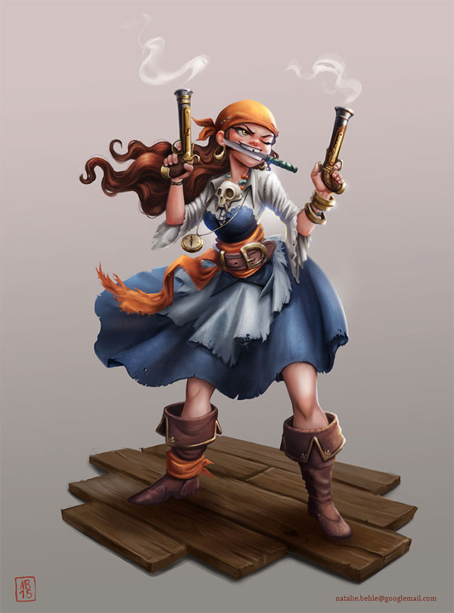 Pirate Character Design by Natalie Behle
