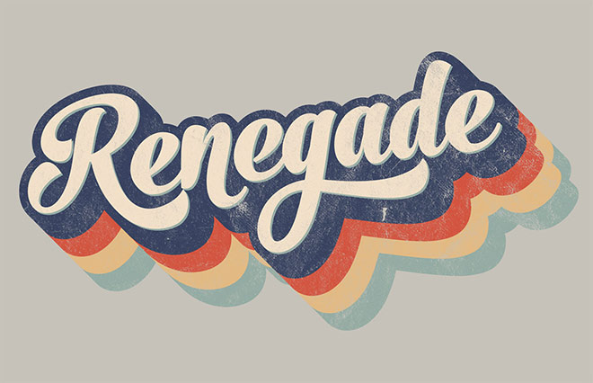 How to create a retro-style striped style effect of the 70's