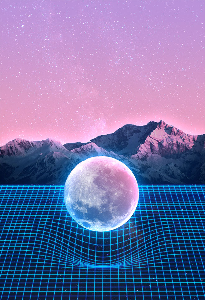 "How To Create 80s Style ""Retrowave"" Art in Adobe Photoshop"