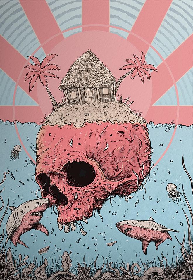 Skull Island by Kacper Gilka Art