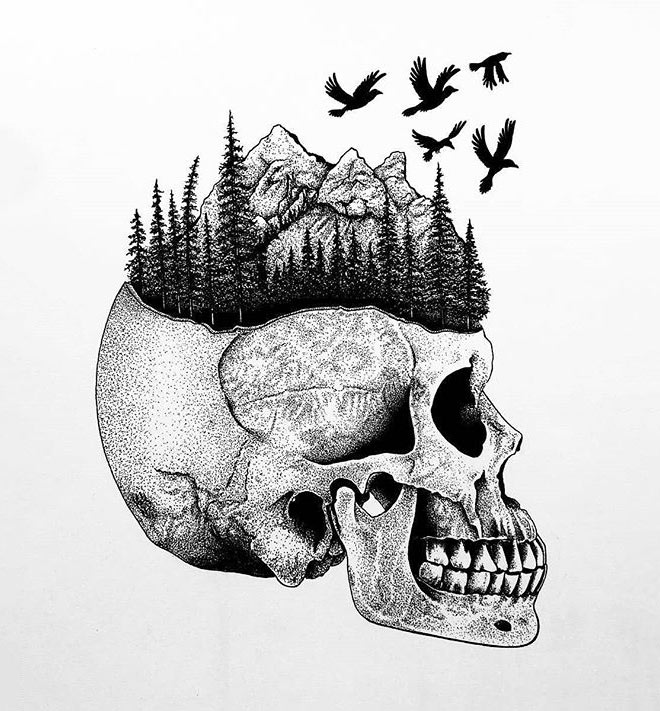 Nature Skull by Wysartt