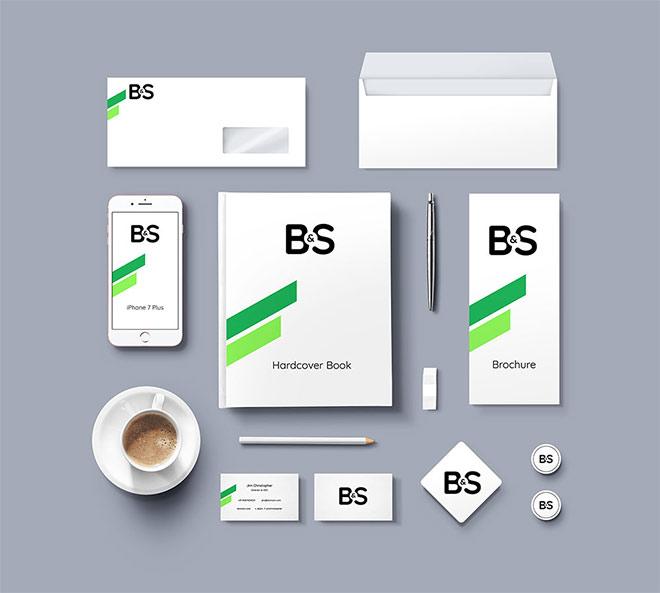 Branding & Stationery PSD Mockup