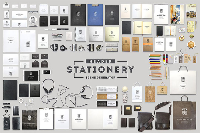 Header Stationery Scene Generator