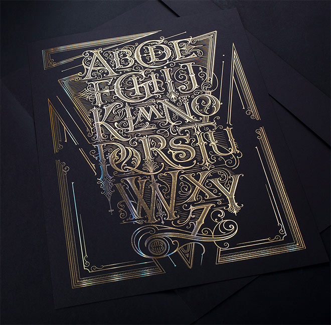 The Alphabet Poster by Mateusz Witczak