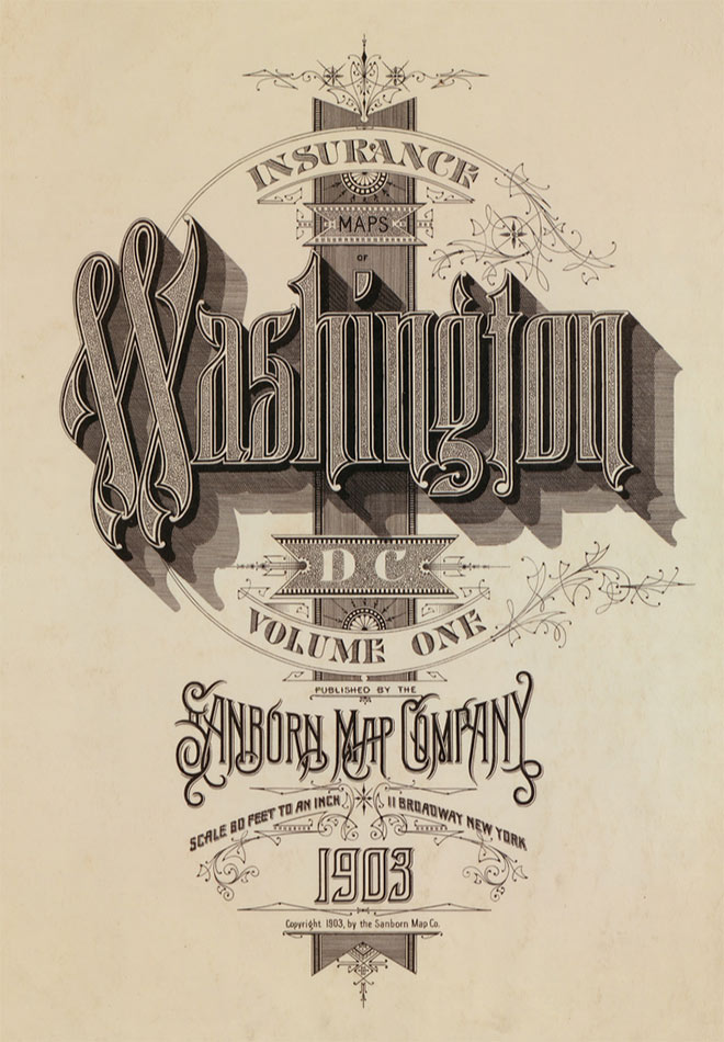 Washington DC 1903 by Sanborn Map Company