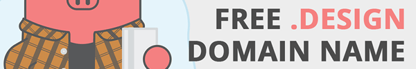 Get Your .design Domain Name for FREE for the First Year