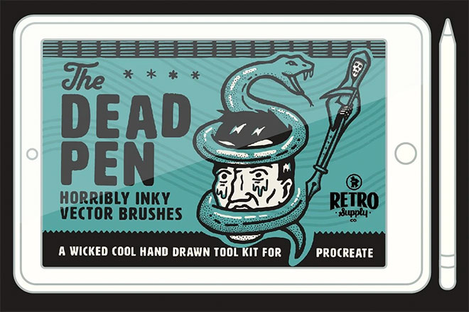 The Dead Pen Hand Drawn Toolkit by RetroSupply ($15)