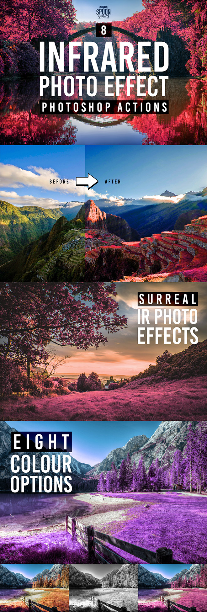 8 Free Infrared Photo Effect Actions for Adobe Photoshop