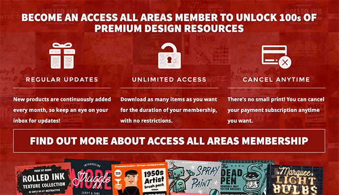 Spoon Graphics Access All Areas Membership