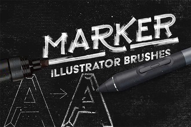 Marker Illustrator Brushes