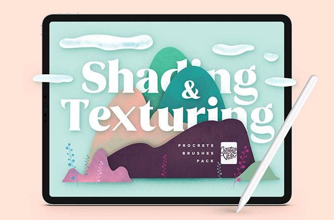 Natural Shading & Texture Procreate Brushes