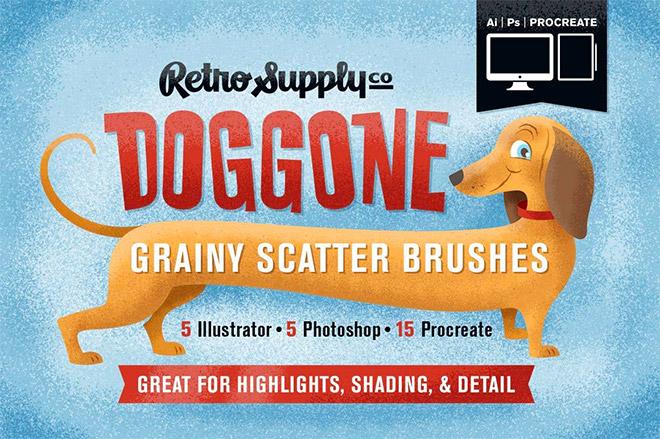 DOGGONE GRAINY SCATTER BRUSHES