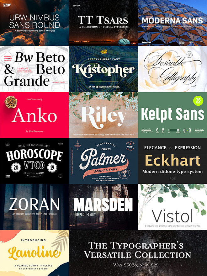 Buy The Typographer's Versatile Collection for $29