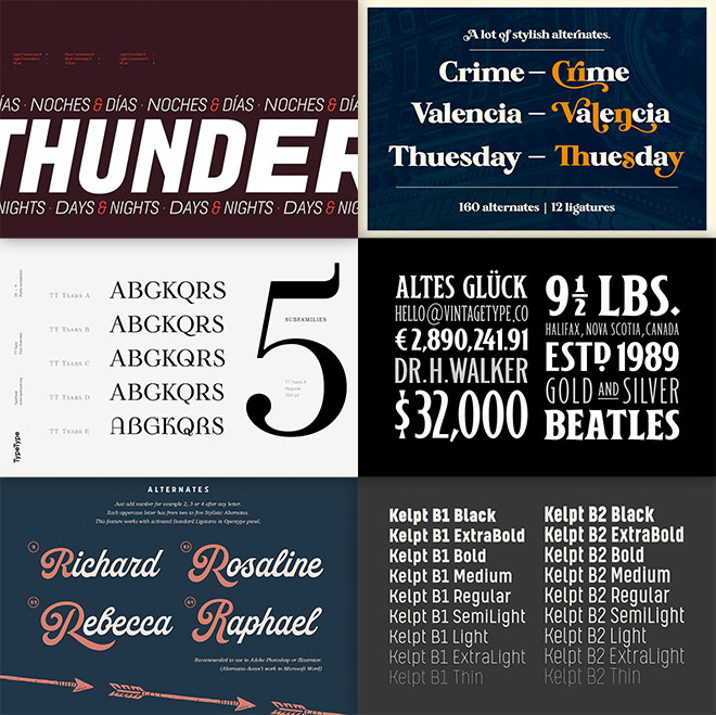 The Perfect Fonts for Your Next Project  Get Them All for 99