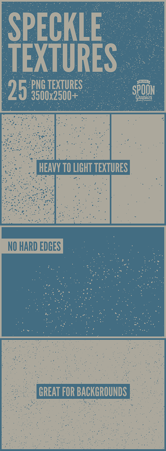 Download My New Collection of 25 Free Speckle Textures