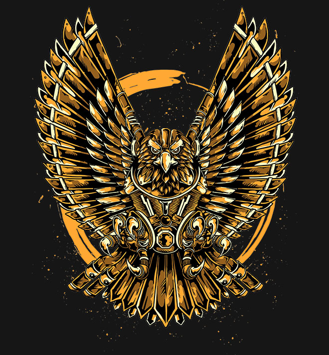 Eagle Motor T-Shirt Design by Tonrer Tonrer