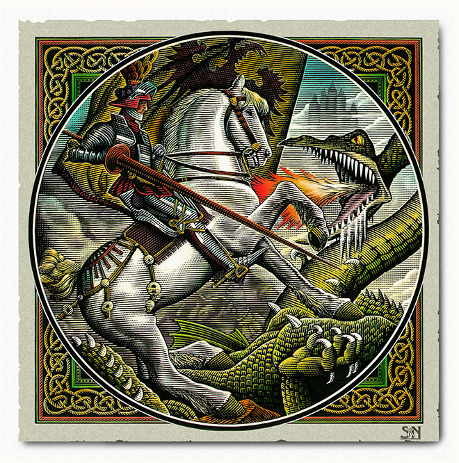 Saint George and the Dragon by Steven Noble