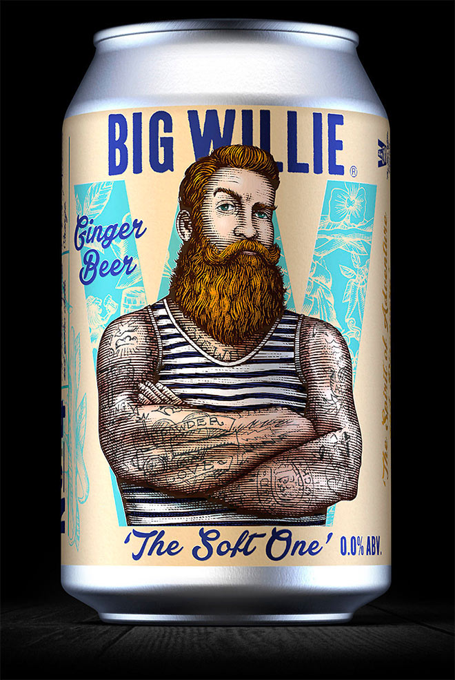 Big Willie Packaging by Steven Noble