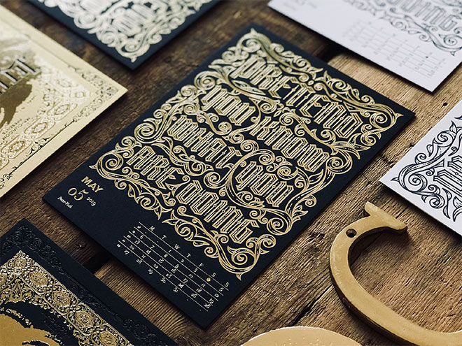 Letterpress Calendar by Peter Voth
