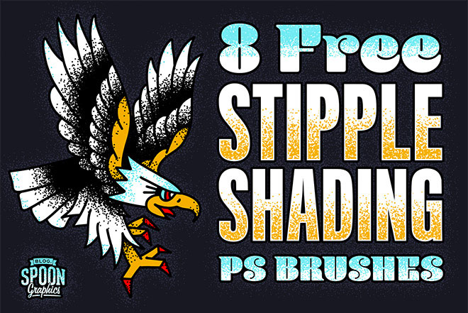 Free Pack of Stipple Shading Brushes for Adobe Photoshop