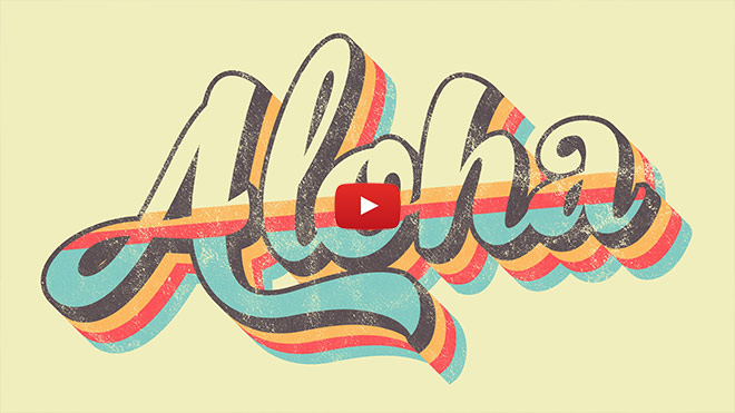 Retro Striped Text Effect Illustrator Tutorial (+ FREE Textures!)