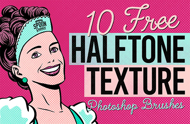 10 Free Halftone Texture Brushes for Adobe Photoshop