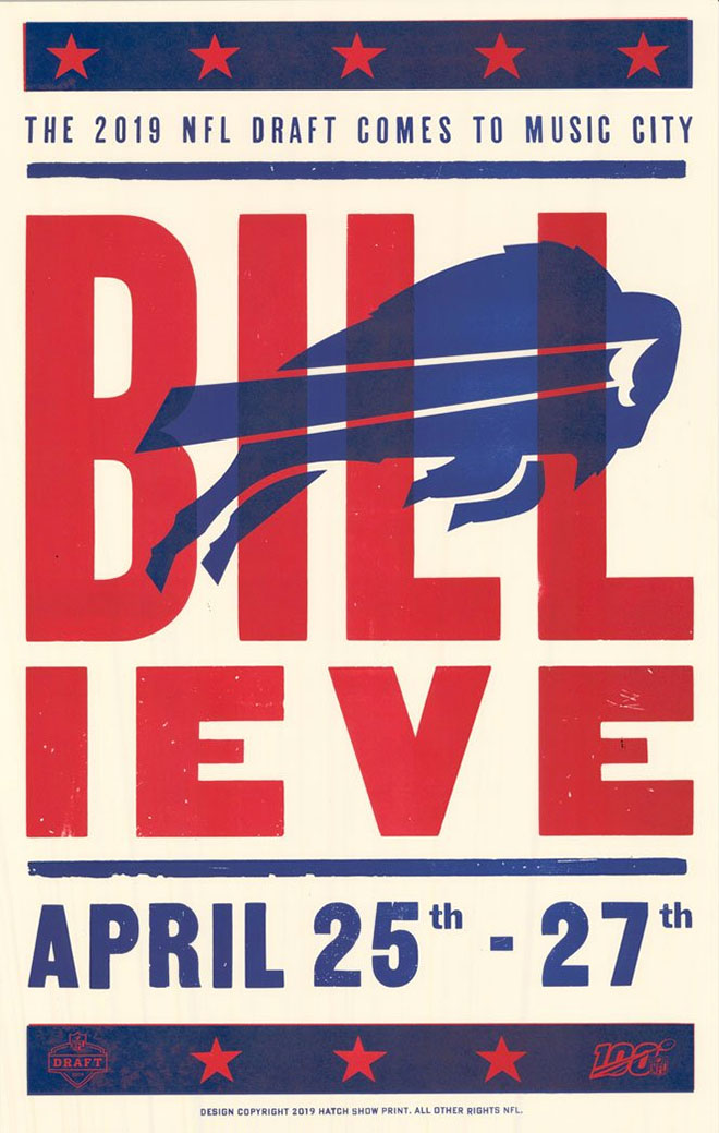 Buffalo Bills Poster by Hatch Show Print