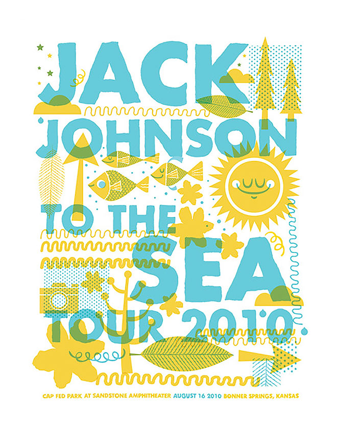 Jack Johnson Poster by Tad Carpenter