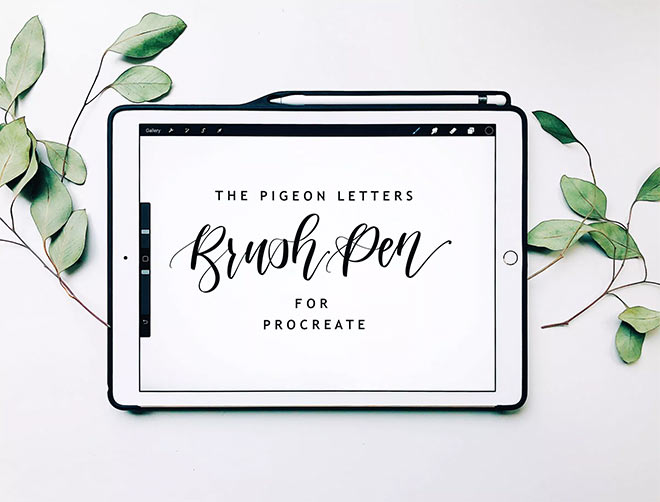 Free Procreate Brushes by The Pigeon Letters (FREE)