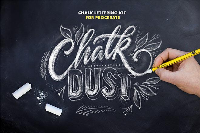Chalk Dust Brush Kit for Procreate by Ian Barnard ($19)