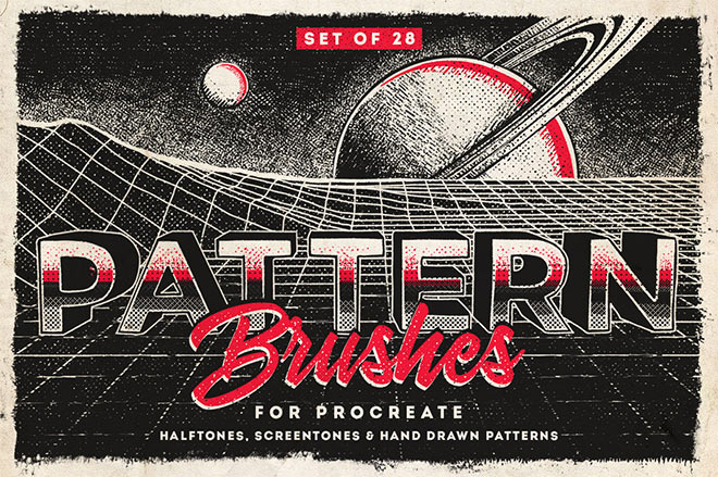 Procreate Pattern Brushes by MiksKS ($9)