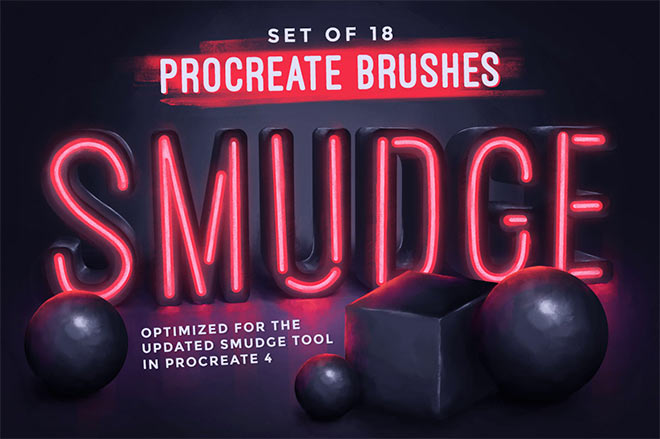 Procreate Smudge Brushes by MiksKS ($9)