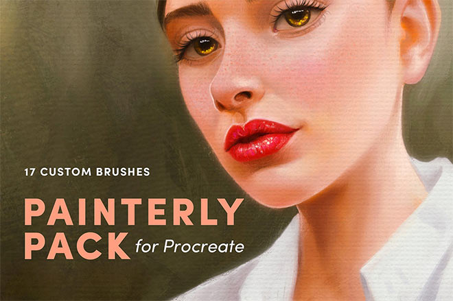 Painterly Pack Procreate Brushes by Sadie Law ($8)