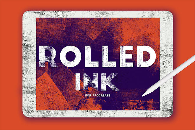 Rolled Ink Brushes by Seamless Team ($11)