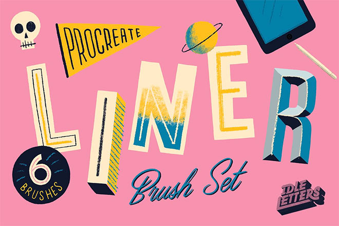 Liner Procreate Brush Set by Idle Letters ($8)