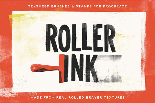 Roller Ink Procreate Pack by Jamie Bartlett ($6)
