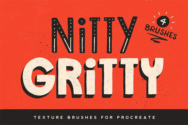 Nitty Gritty Procreate Brushes by Jamie Bartlett ($3)