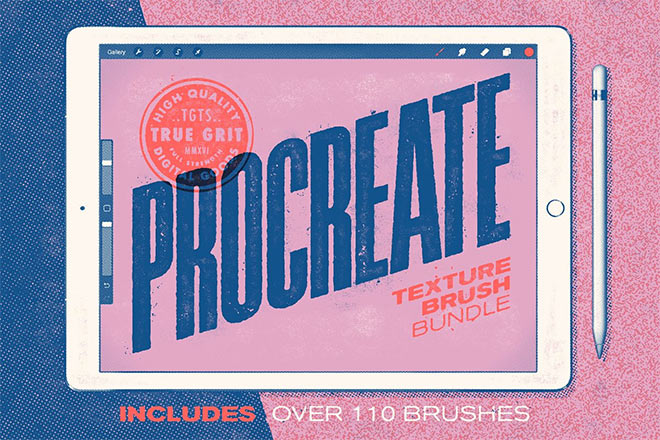 Procreate Texture Brush Bundle by True Grit Texture Supply ($39)