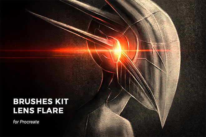 Galactic Lens Flare Brushes Kit for Proceate by MiksKS (FREE)