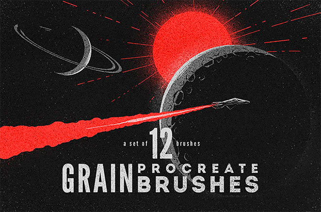 Procreate Grain Brushes by MiksKS (FREE)