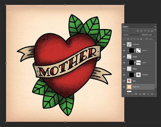 How To Create Old School Style Tattoo Art in Adobe Photoshop