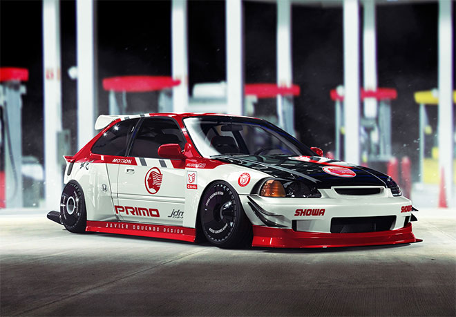 Honda Civic EK9 by Javier Oquendo