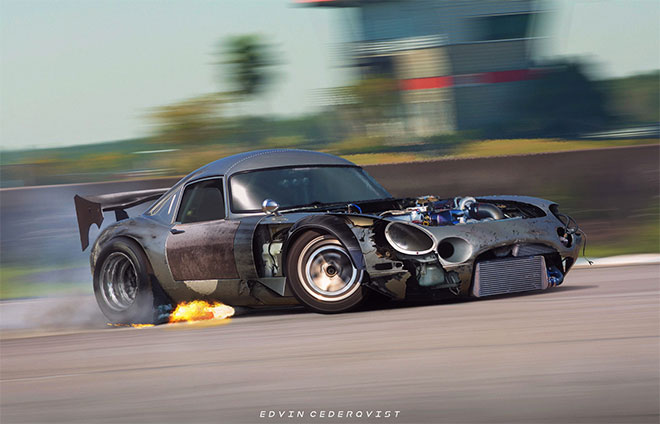 Jaguar E-type Drift Missile by Edvin Cederqvist