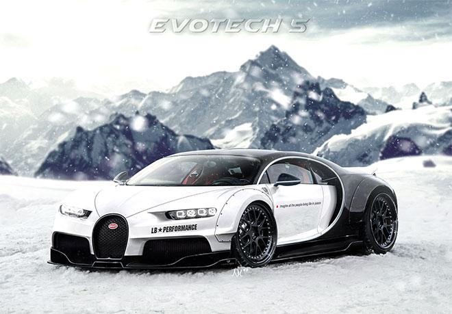 Liberty Walk Bugatti Chiron by Evotech 5