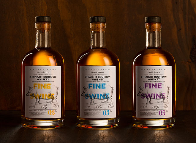 Fine Swine Whiskey by MARK Design Studio