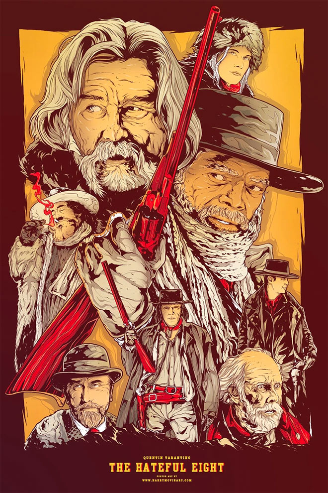 The Hateful Eight Poster Art by Harry Movie Art