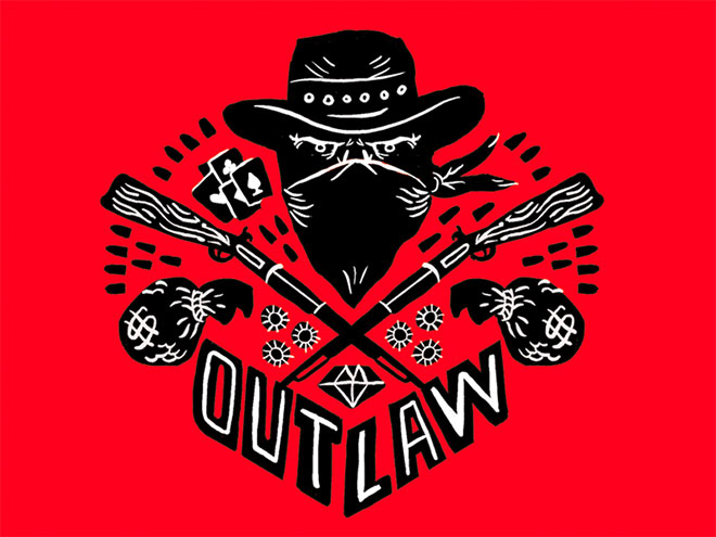 Outlaw Illustration by Hans Bennewitz