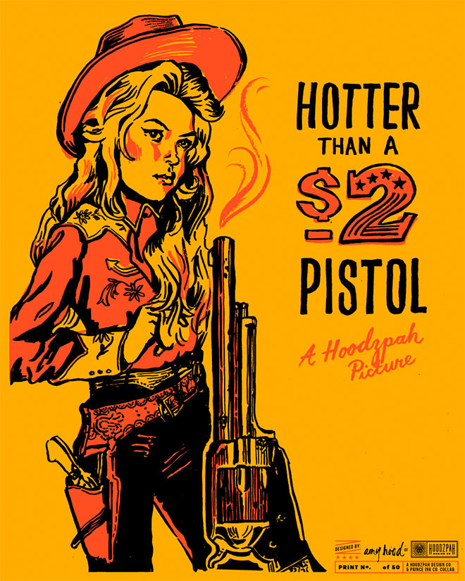 2 Dollar Pistol Poster by Amy Hood