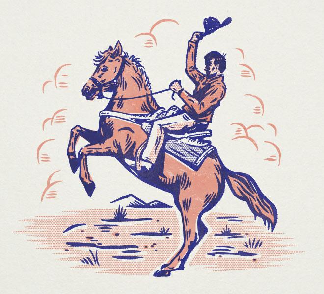 Vintage Cowboy by Matt Carlson